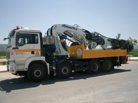Grúa para servicios en altura y transporte Alzira